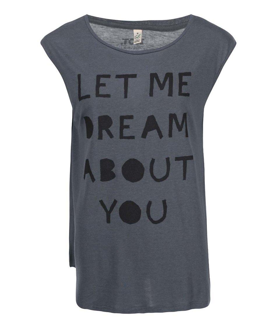 Tmavě šedé dámské tričko bez rukávů ZOOT Originál Let Me Dream