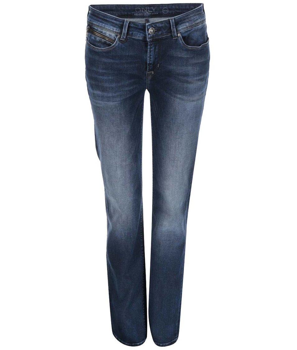 Tmavě modré rovné džíny ONLY Ella
