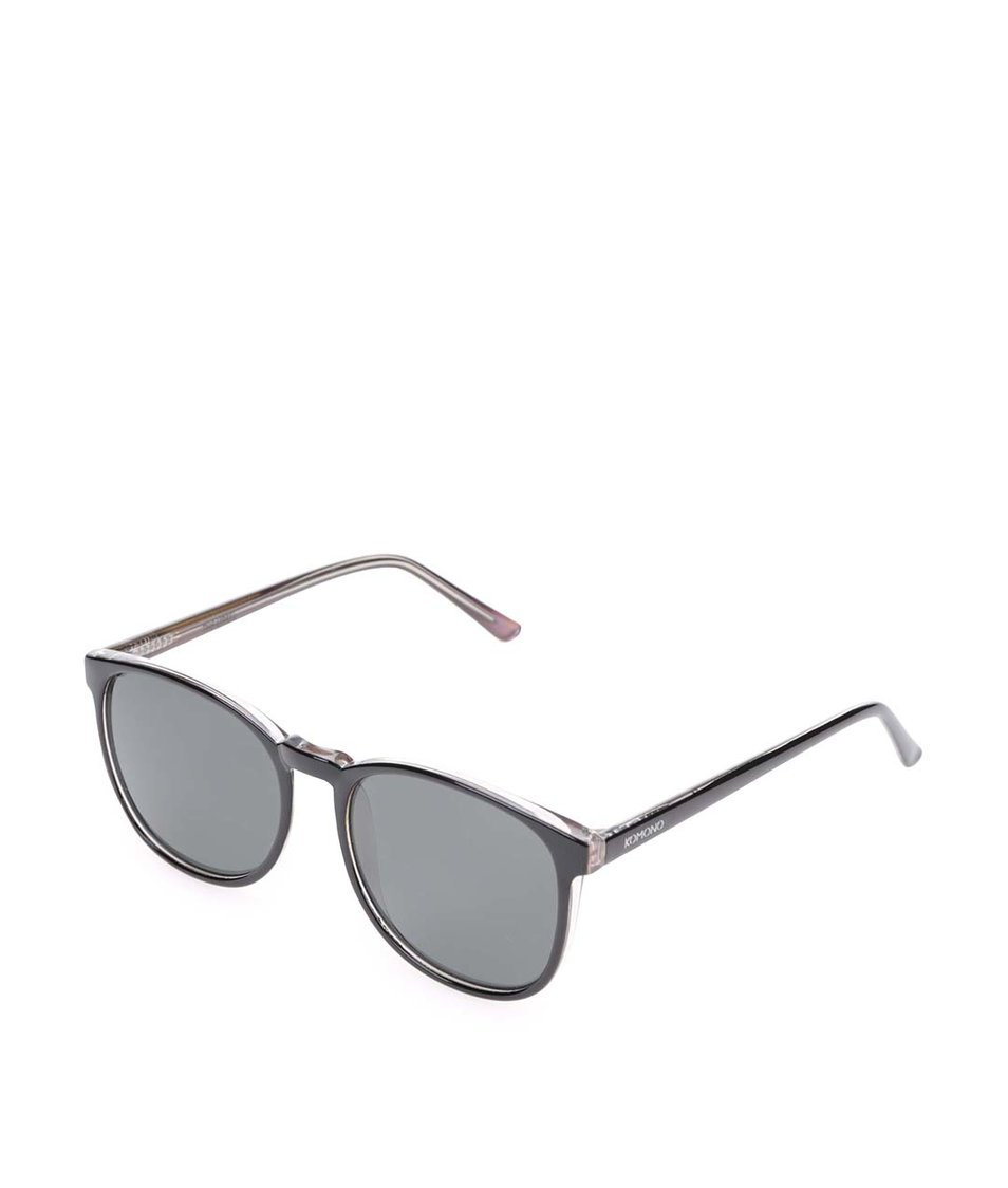 Černé unisex sluneční brýle Komono Urkel
