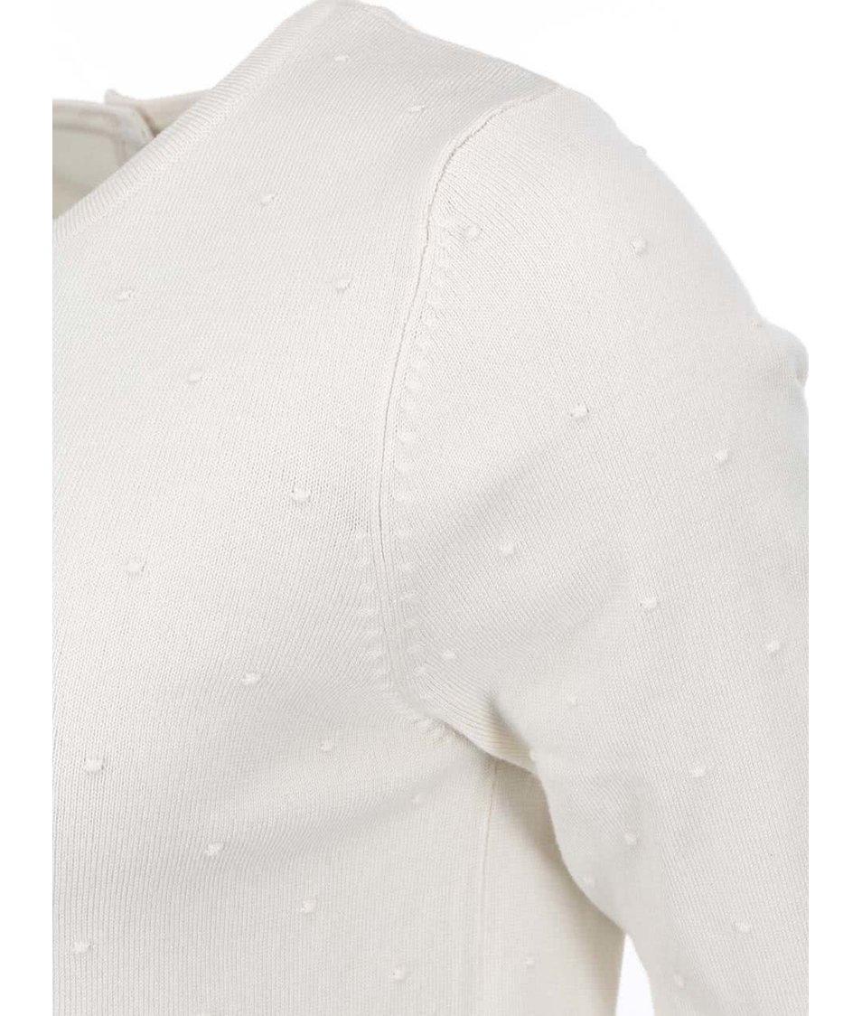 Krémový puntíkovaný svetr Vero Moda Glory