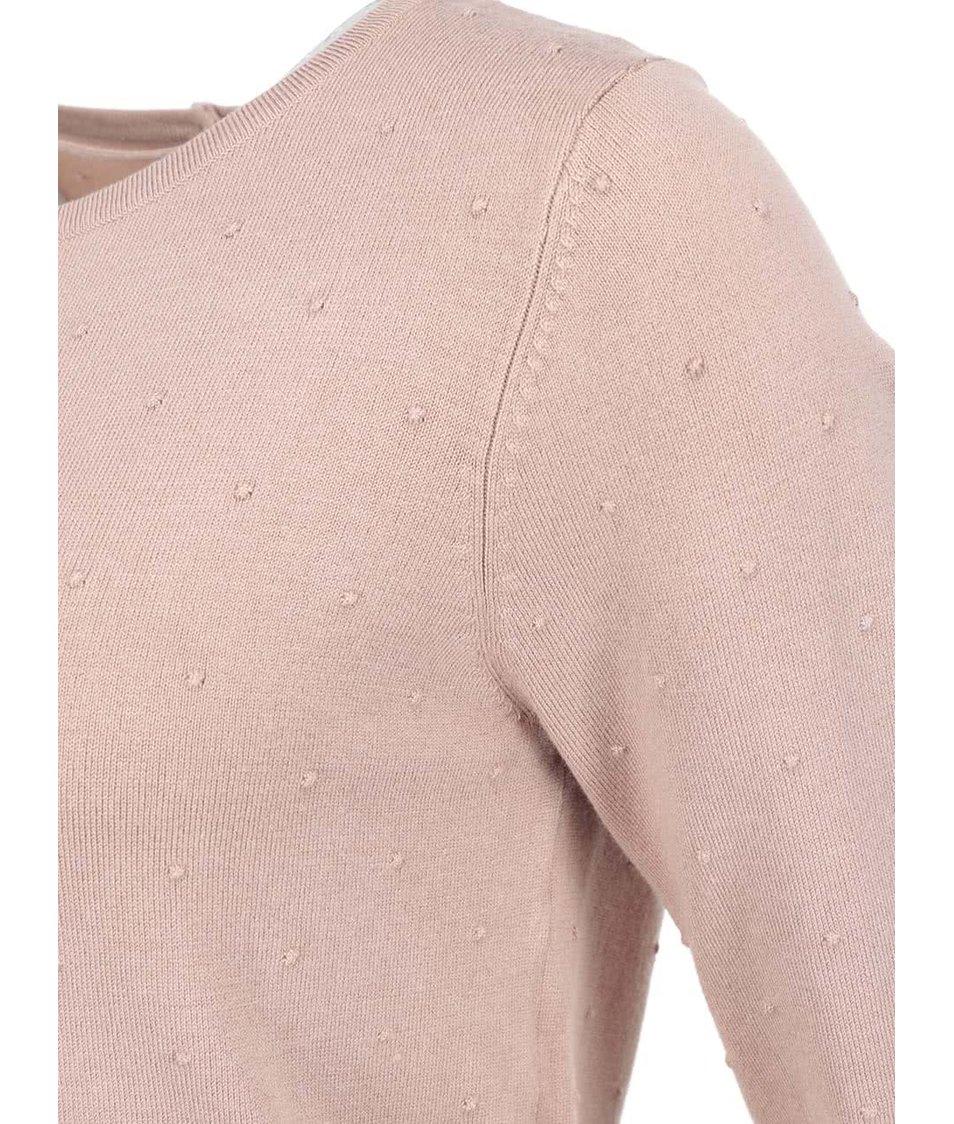 Starorůžový puntíkovaný svetr Vero Moda Glory
