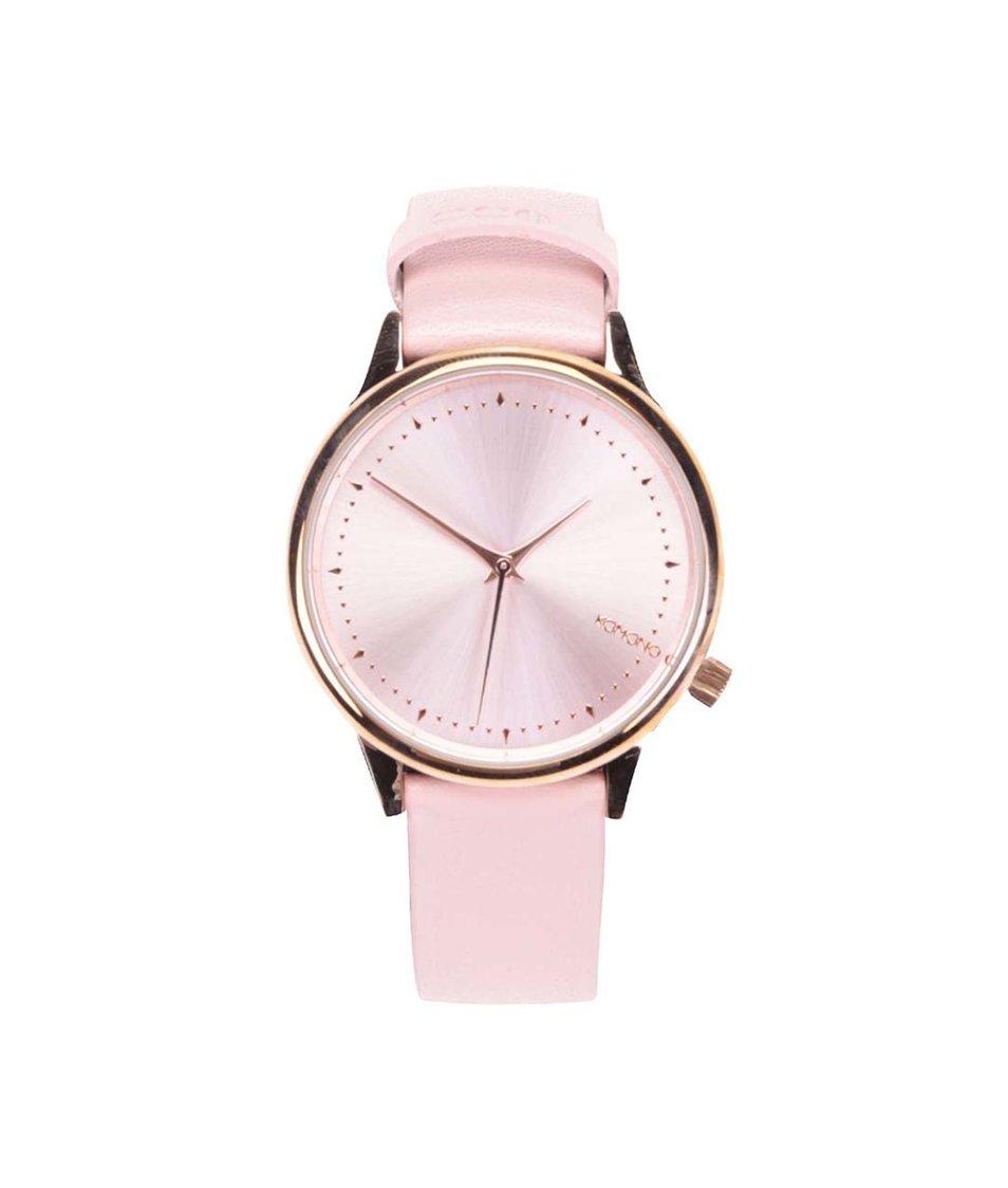 Růžové dámské hodinky Komono Estelle Pastel