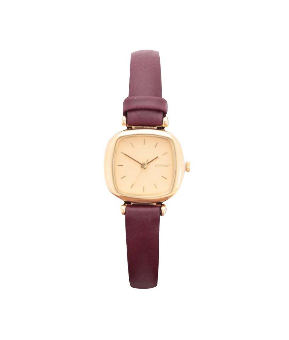 Dámské hodinky s vínovým páskem Komono Moneypenny