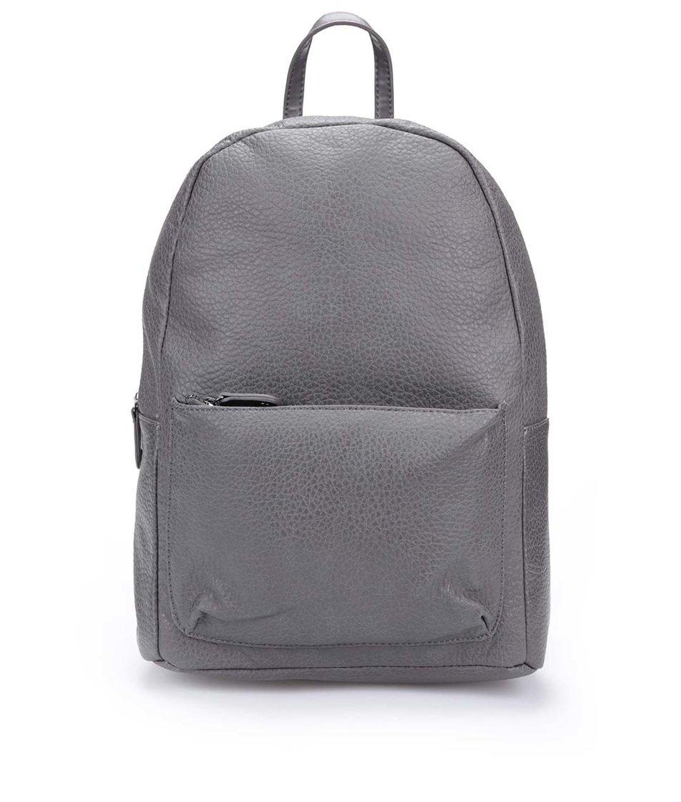 Šedý koženkový batoh Pieces Ron