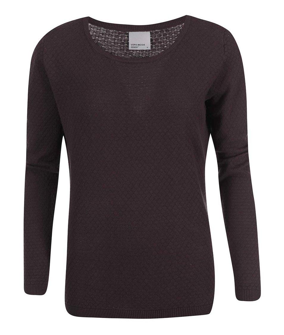 Tmavě hnědý svetr Vero Moda Care