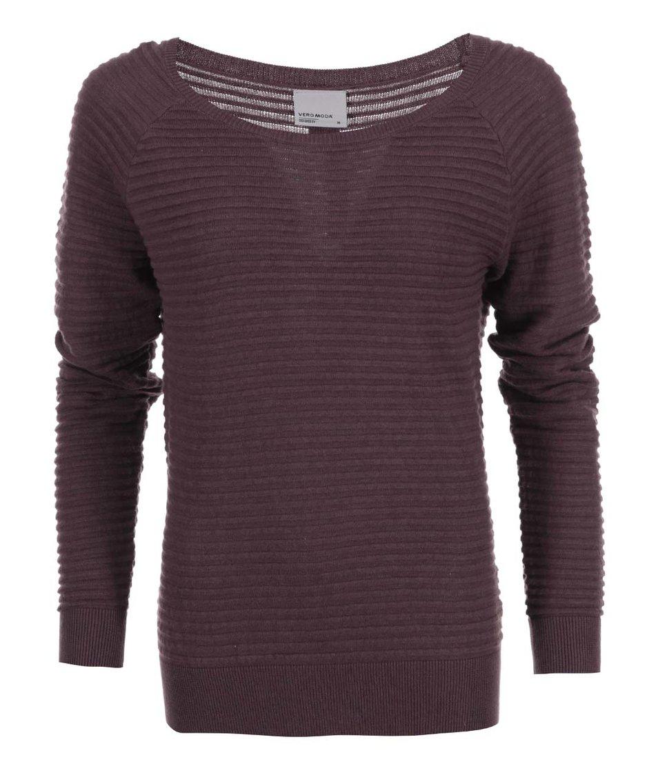 Vínový svetr s knoflíčky na zádech Vero Moda Forever