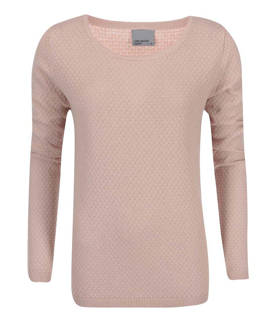 Růžový svetr Vero Moda Care