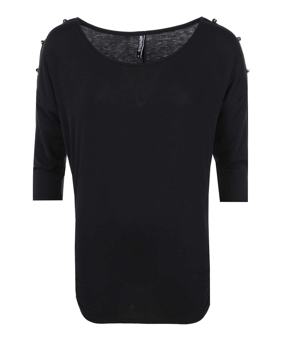 Černý top s knoflíky na ramenou Haily´s Jill