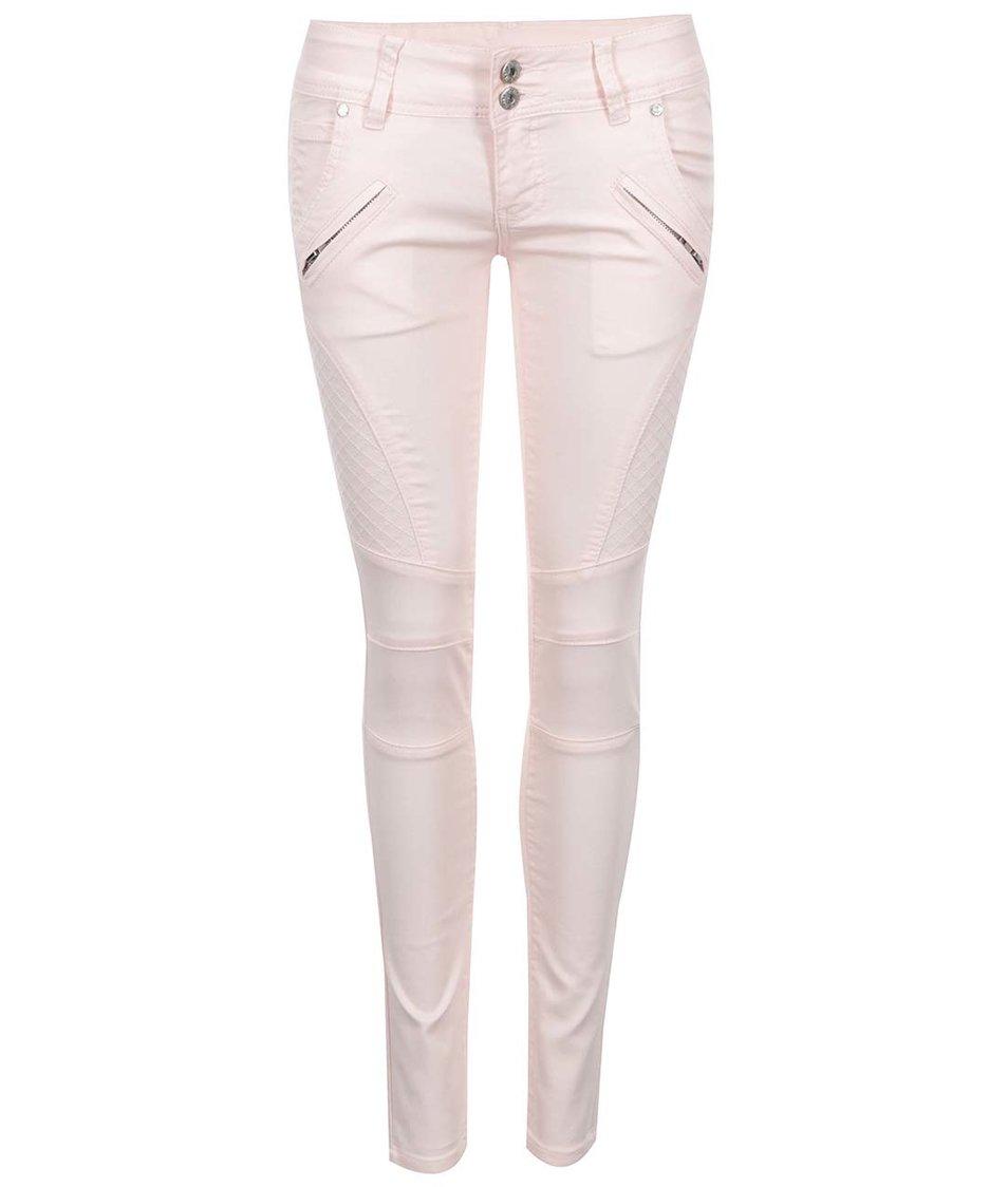 Růžové úzké kalhoty Haily´s Danny