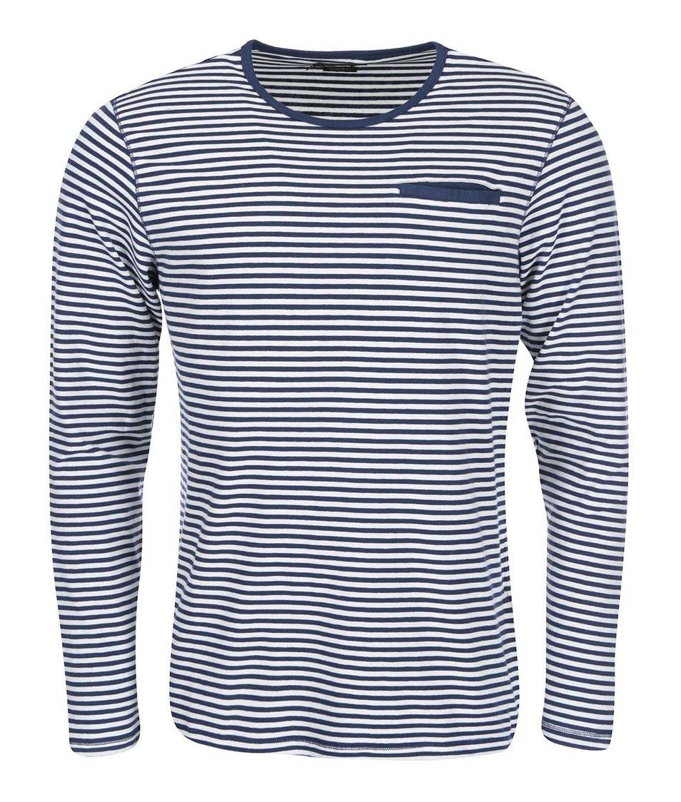 Bílo-modré triko s dlouhým rukávem Casual Friday by Blend