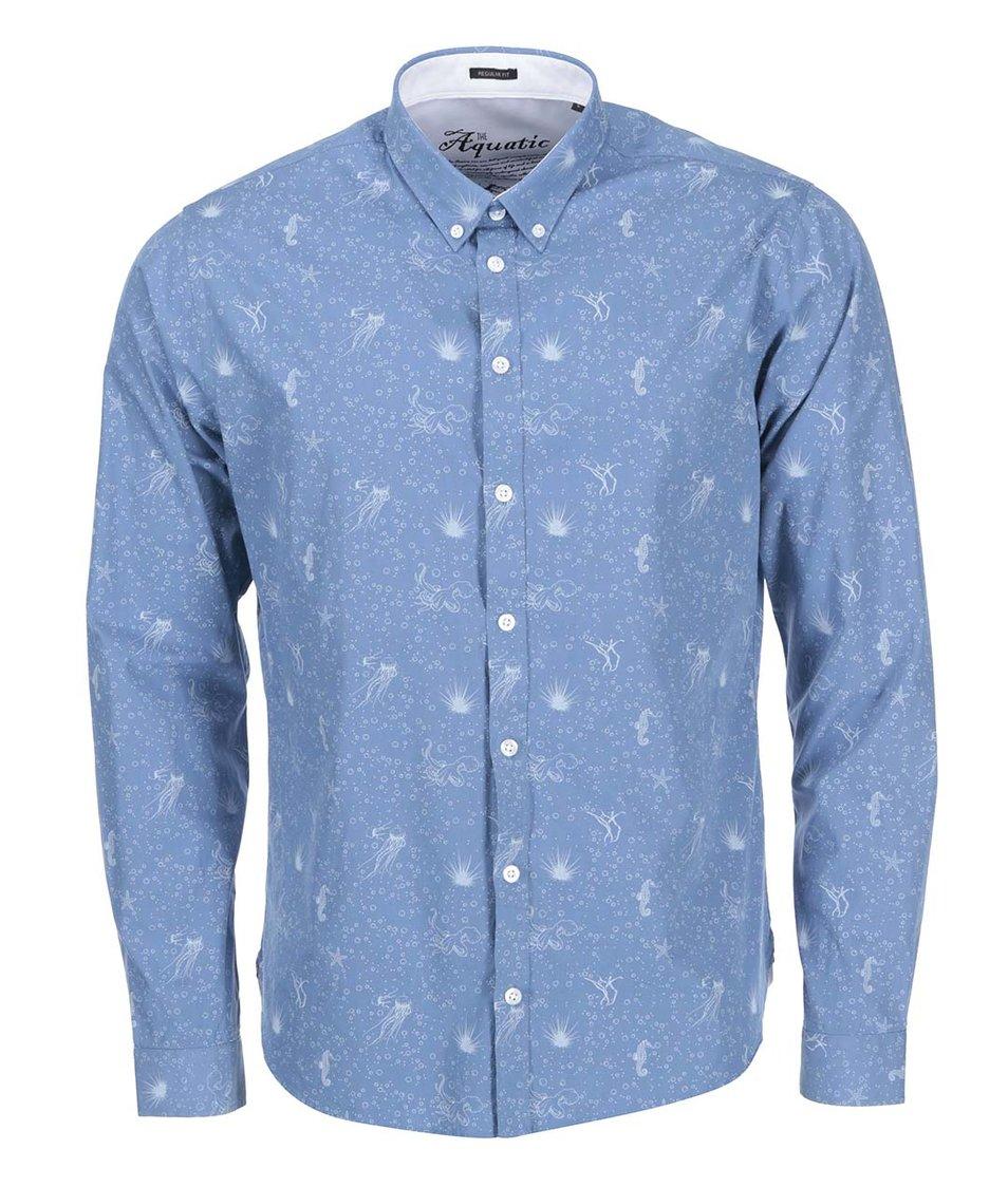 Modrá vzorovaná košile Casual Friday by Blend