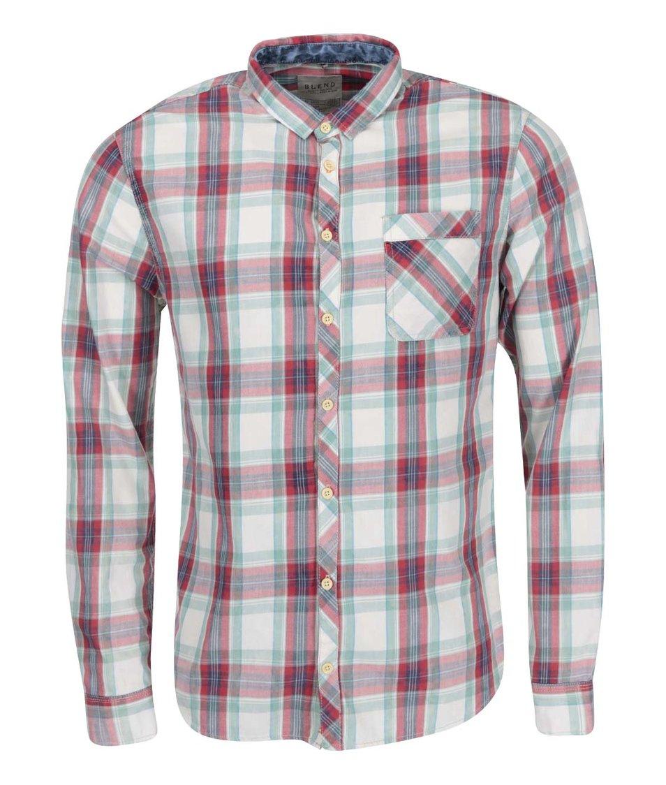 Červeno-zelená kostkovaná košile Blend