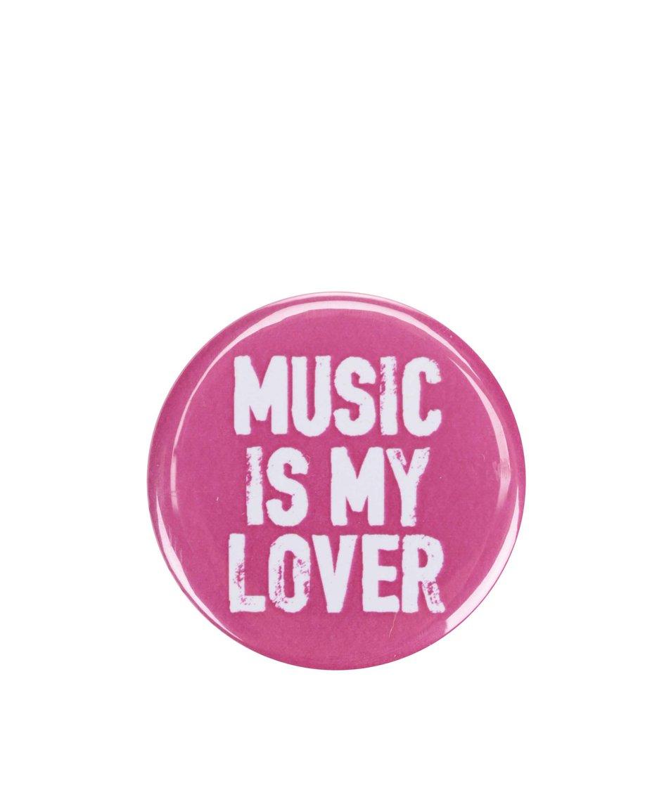 Růžová placka ZOOT Originál Music is my lover