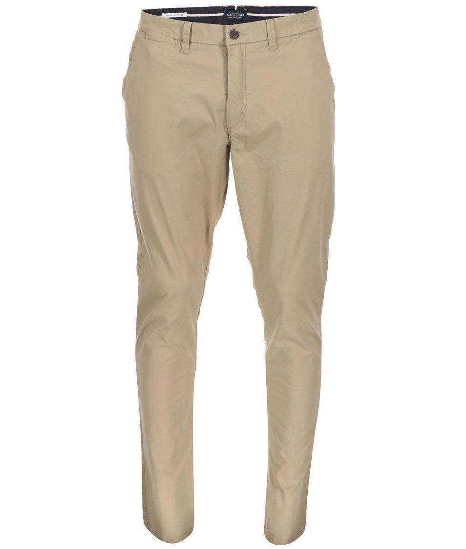 Béžové chino kalhoty Jack & Jones Marco