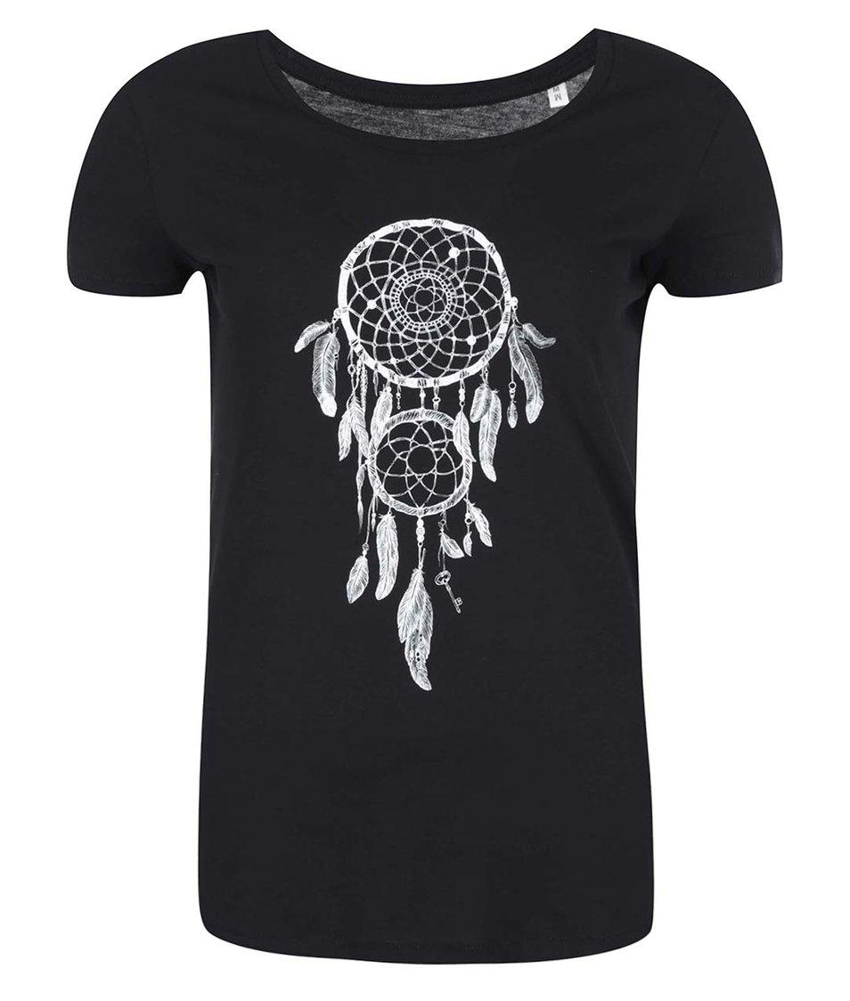 Černé dámské tričko ZOOT Lokál Lapač snů