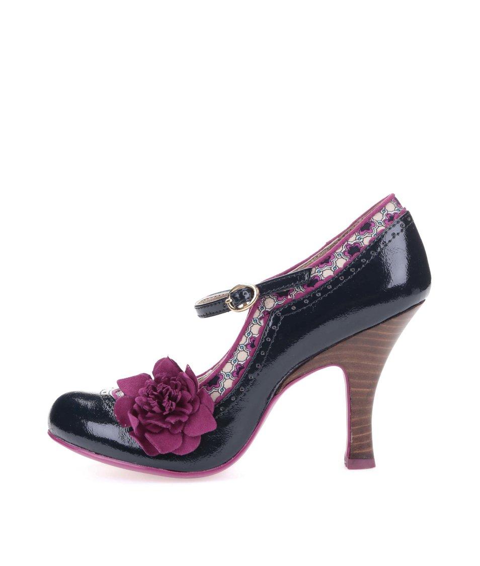 Růžovo-modré lodičky s květinou Ruby Shoo Poppy
