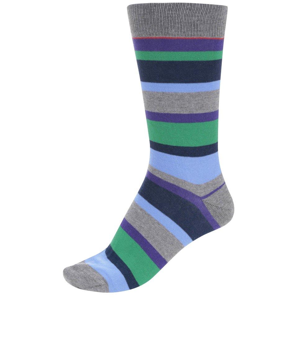 Barevné pruhované ponožky CR7
