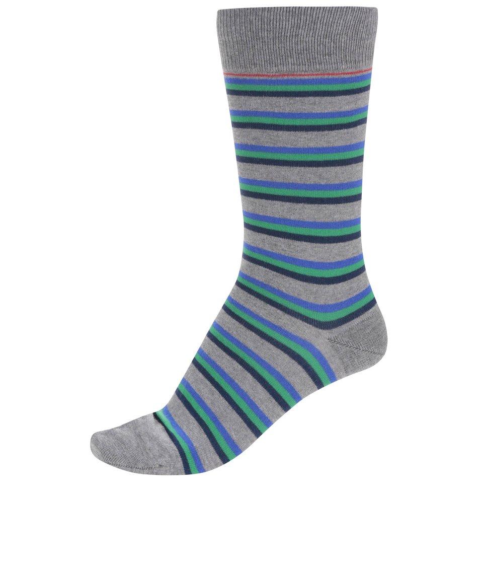 Modro-šedé pruhované ponožky CR7