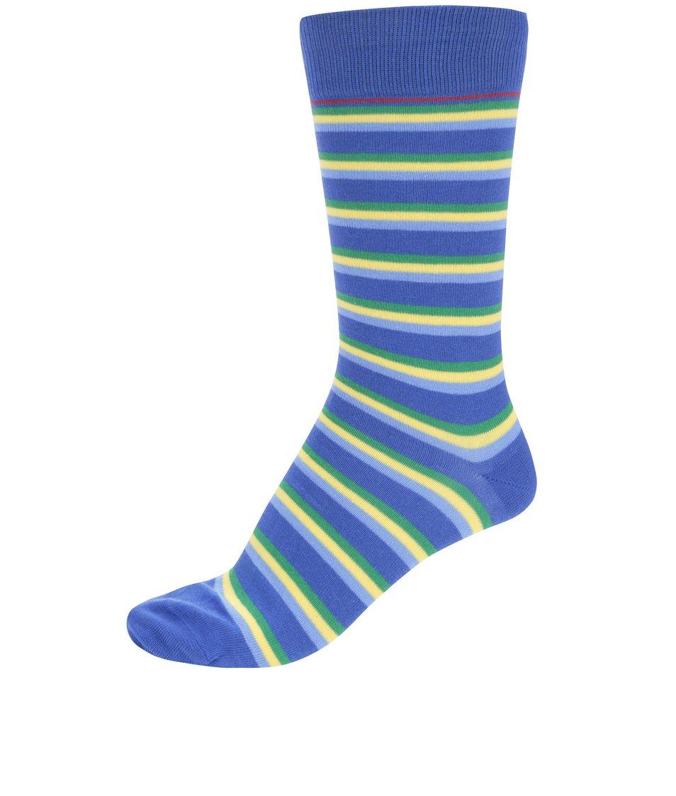 Zeleno-modré pruhované ponožky CR7