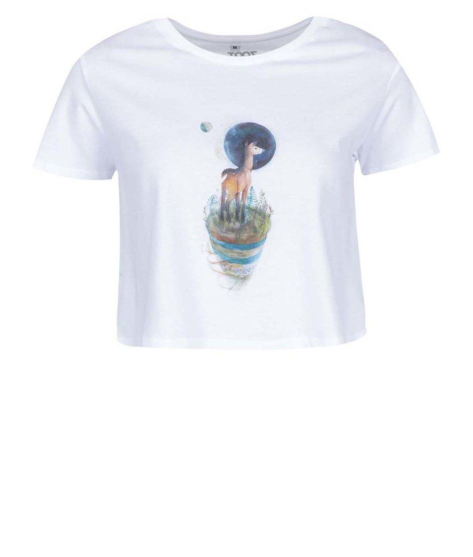 Bílé dámské tričko ZOOT Lokál Srneček