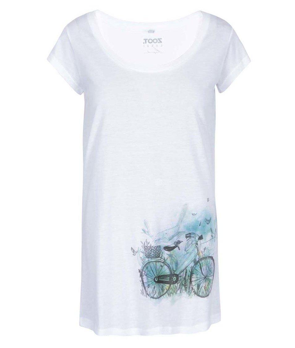 Bílé dámské tričko ZOOT Lokál Kolo