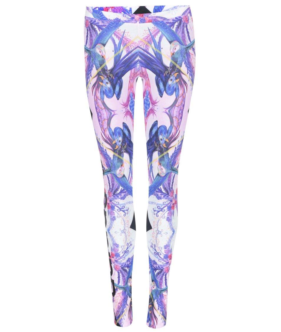 Růžové vzorované legíny adidas Originals Florera