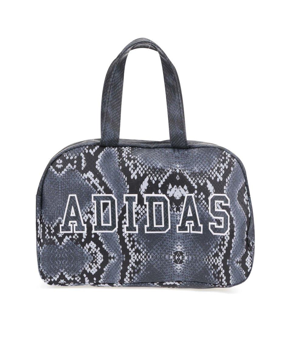 Černo-šedá dámská taška s hadím vzorem adidas Originals Bowling Bag La