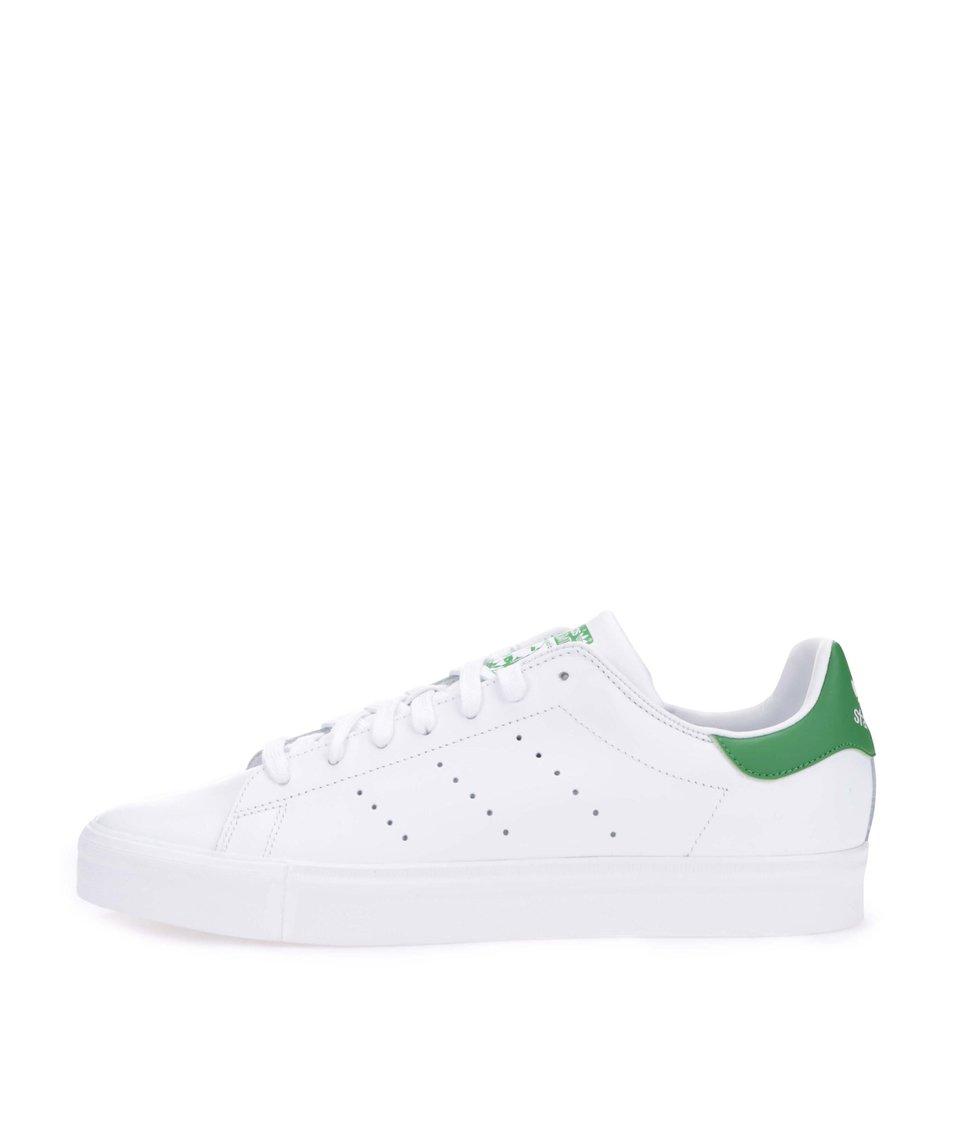 Zeleno-bílé pánské kožené tenisky adidas Originals Stan Smith Vulc