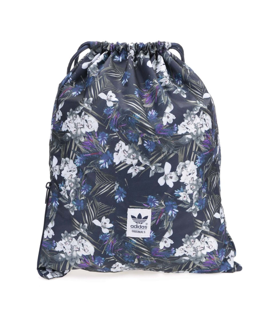 Tmavě modrý sportovní vak s květinovým vzorem adidas Originals