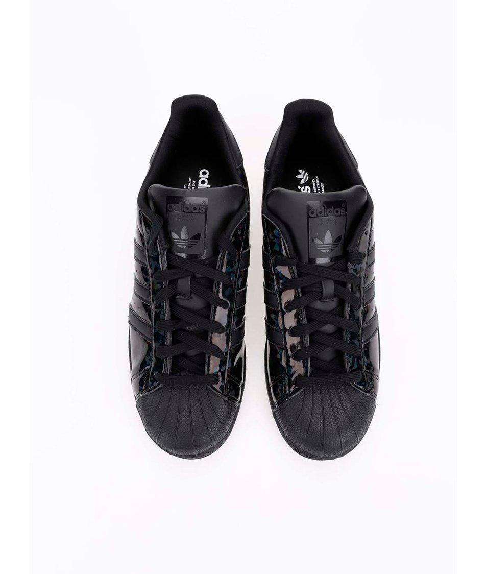 ... Černé dámské tenisky s lesklými pruhy adidas Originals Superstar ... 20588b5e83