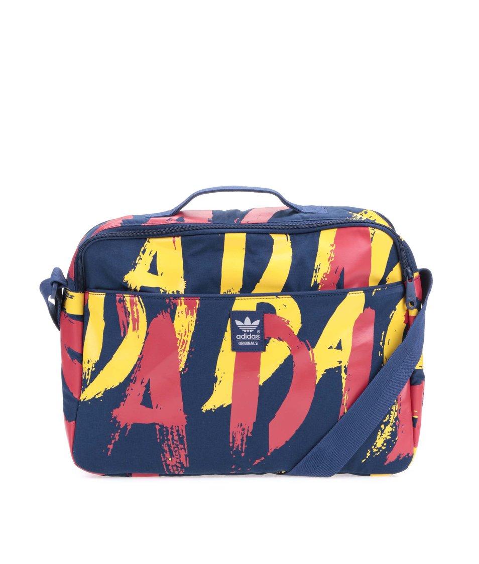 Tmavě modrá dámská taška s potiskem adidas Originals Paris