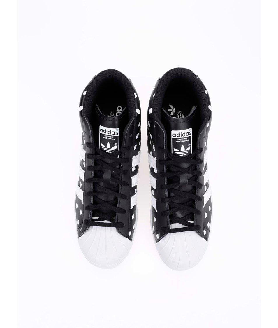 ... Bílo-černé dámské kožené tenisky se skrytým klínkem adidas Originals  Superstar Up ... 83346c22b9