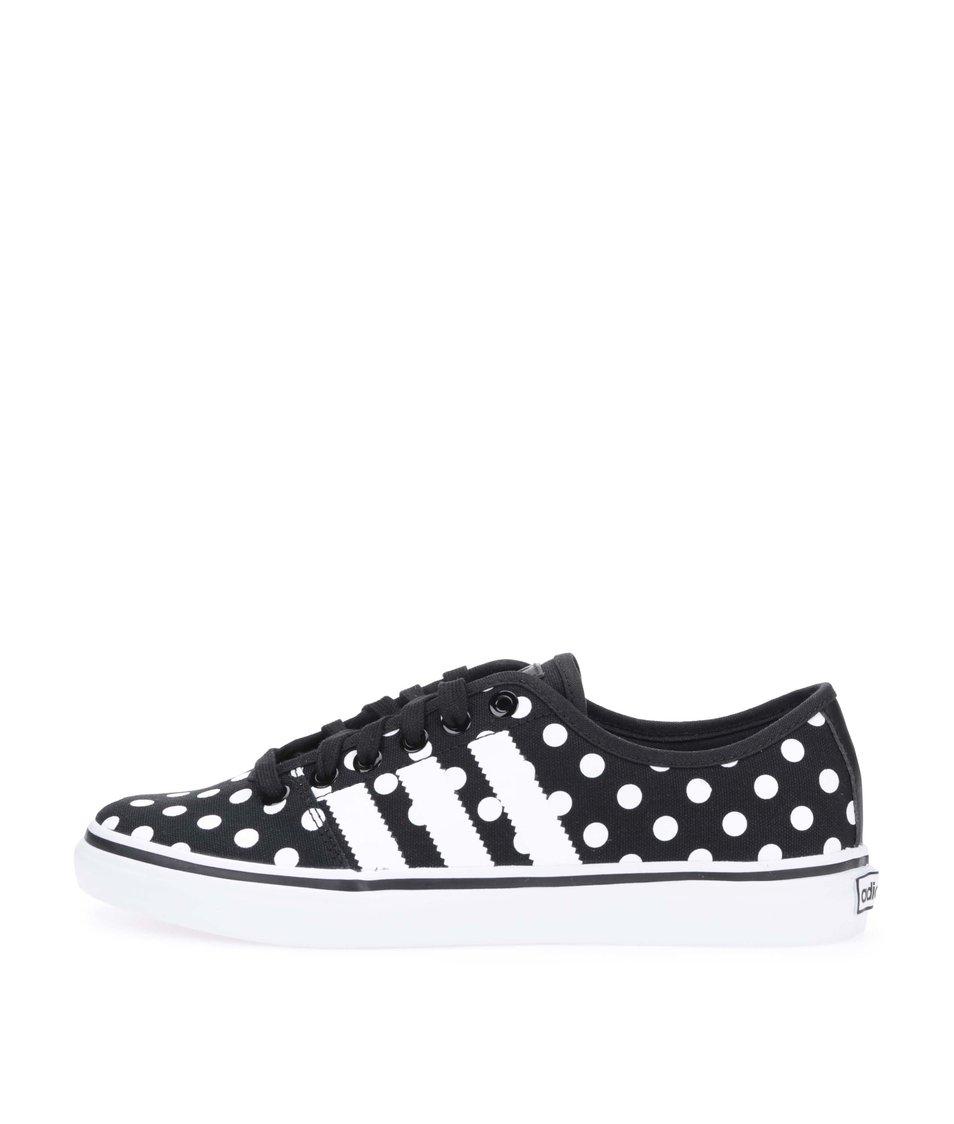 Bílo-černé dámské tenisky s puntíky adidas Originals Adria