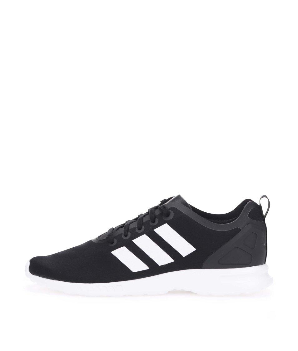 Bílo-černé dámské tenisky adidas Originals ZX Flux Smooth
