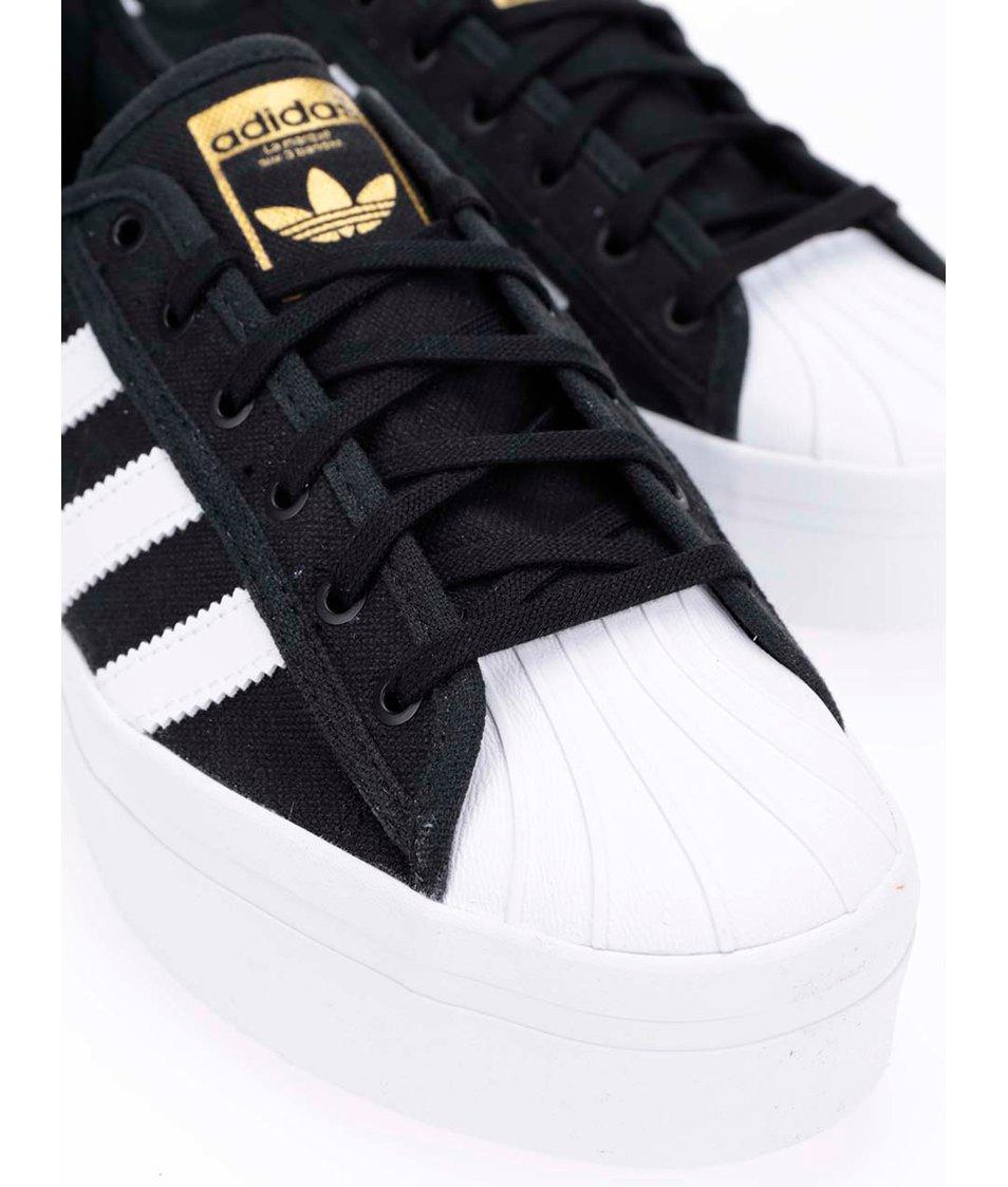 c1634189a ... Bílo-černé dámské tenisky na platformě adidas Originals Superstar ...