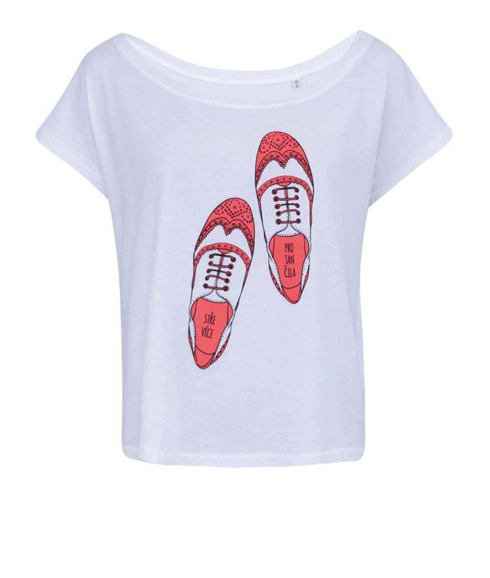Bílé dámské tričko ZOOT Originál Střevíce