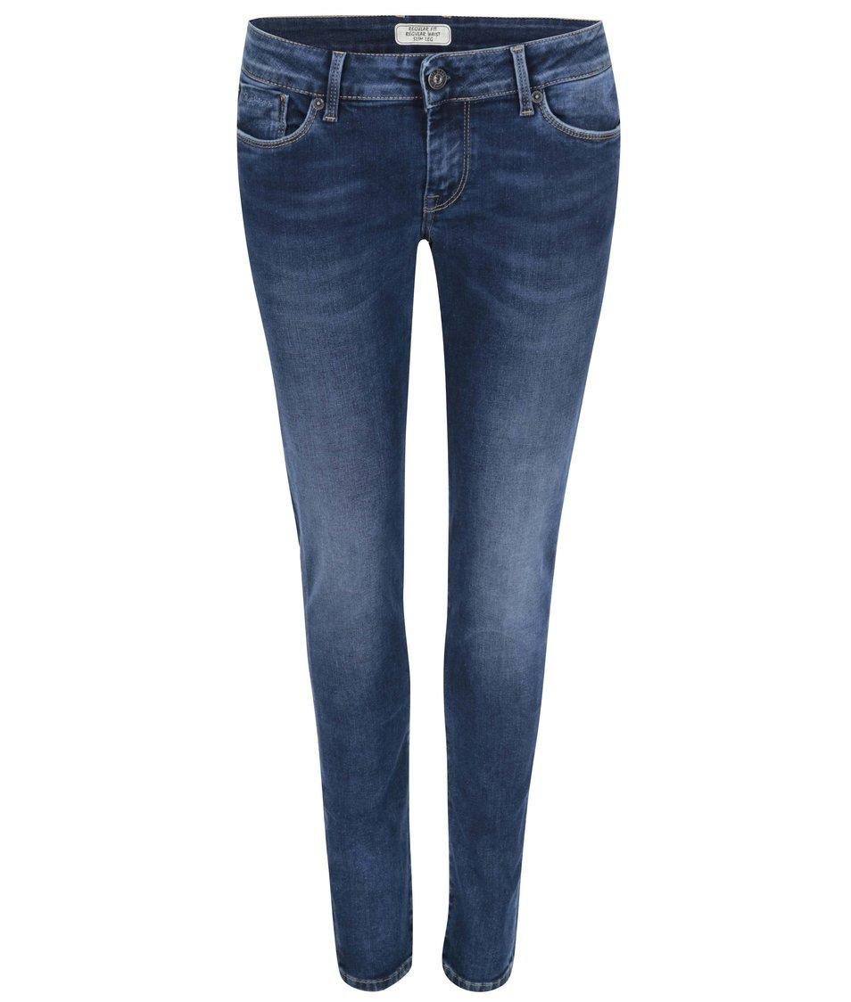 Tmavě modré dámské džíny s nízkým pasem Pepe Jeans Ariel