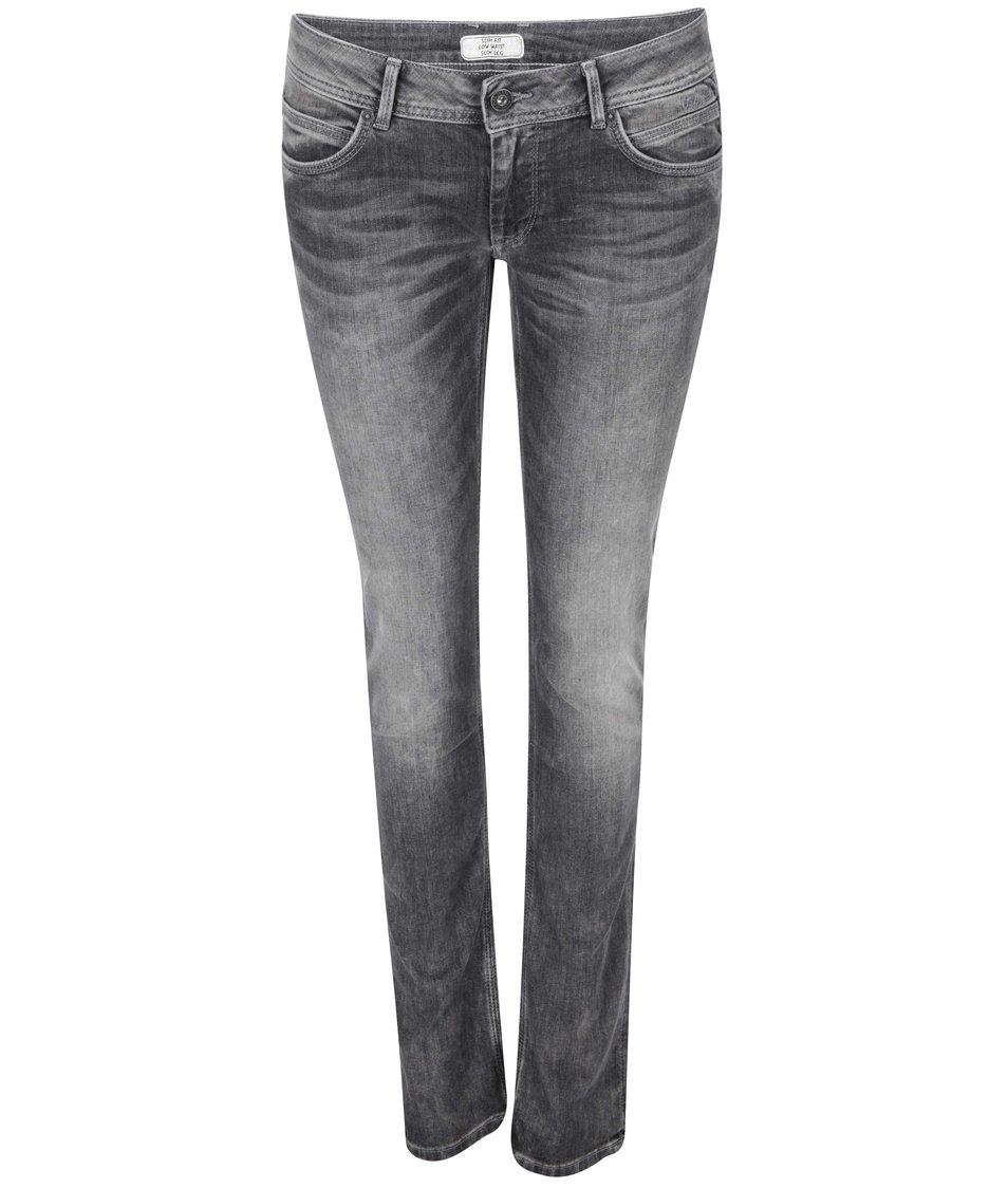 Šedé dámské džíny s nízkým pasem Pepe Jeans Ariel