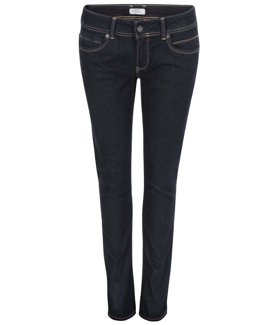 Tmavě modré dámské džíny s nízkým pasem Pepe Jeans New Brooke