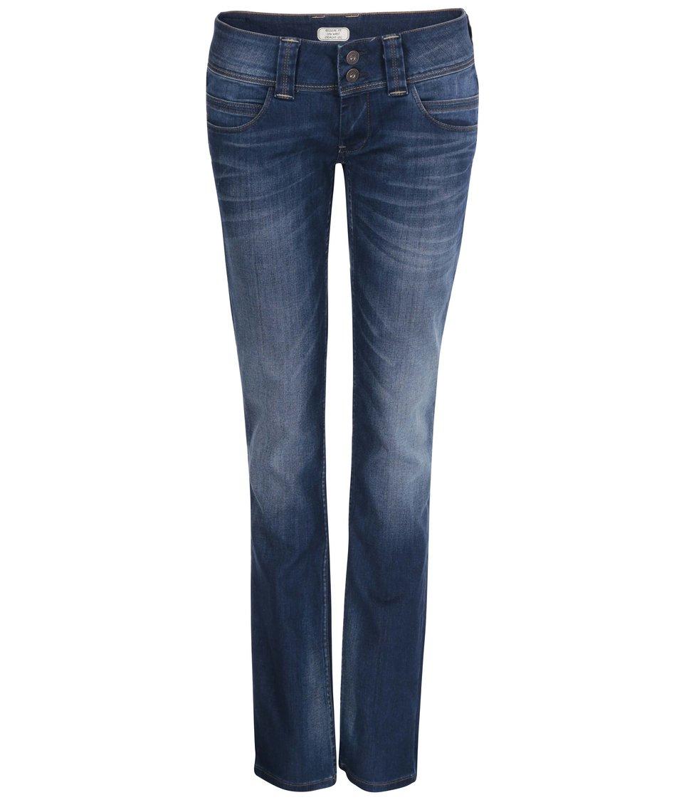 Tmavě modré dámské džíny s nízkým pasem Pepe Jeans Venus