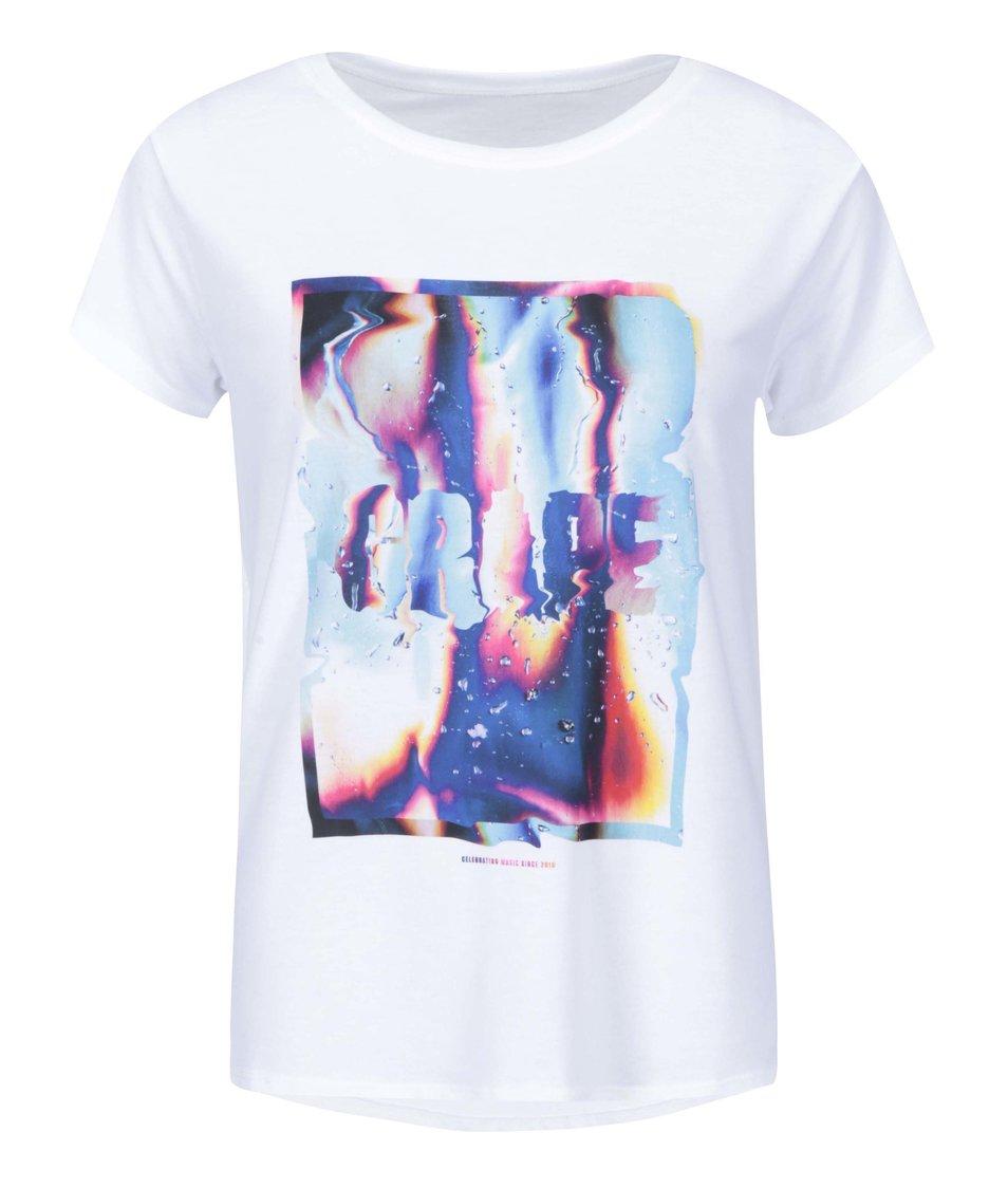 Bílé dámské triko Grape Liquid Love