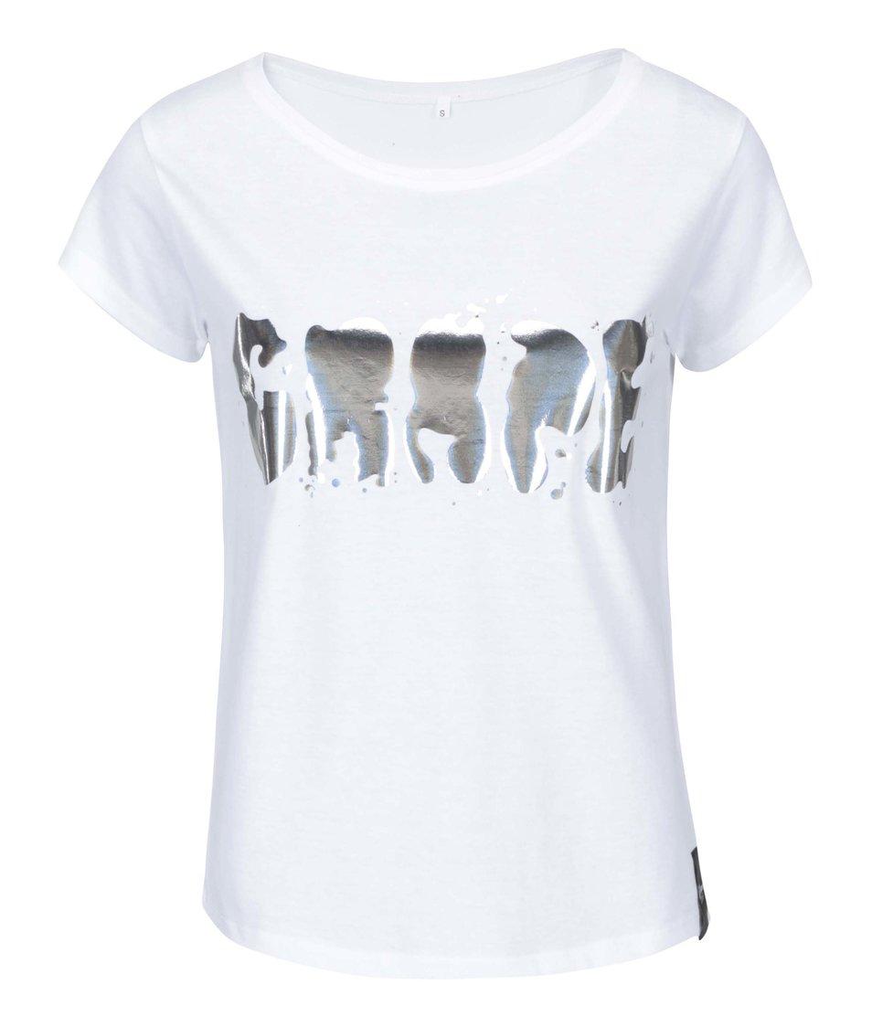 Bílé dámské triko Grape Logo Square