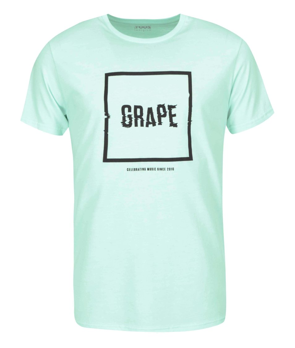 Mentolové pánské triko Grape Logo Square