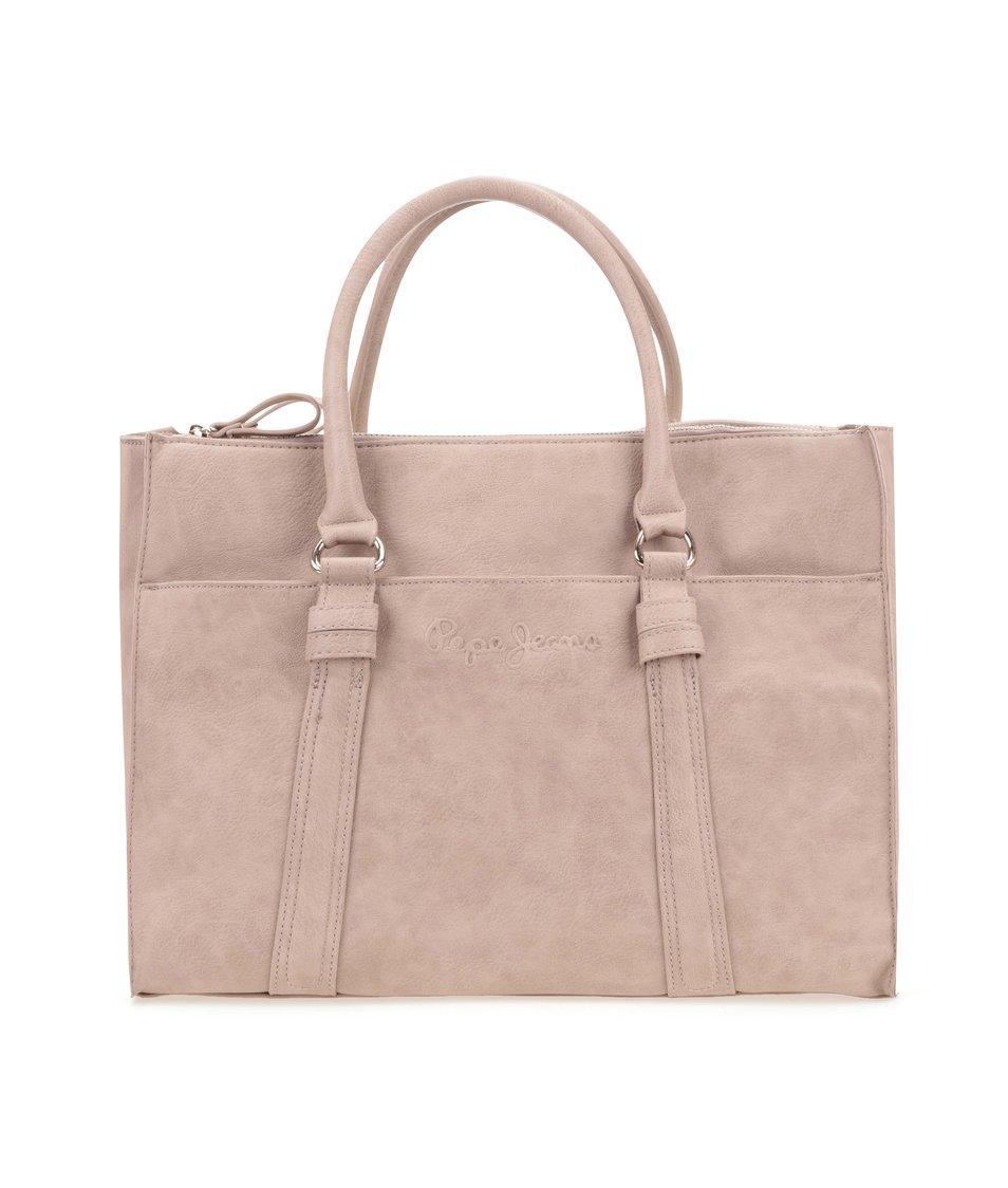 Béžová dámská kabelka přes rameno Pepe Jeans May