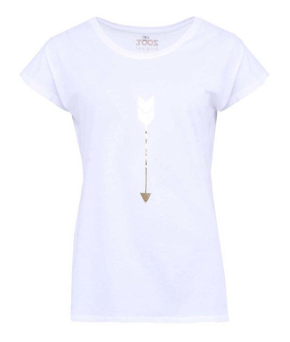 Bílé dámské tričko ZOOT Originál Zlatý šíp