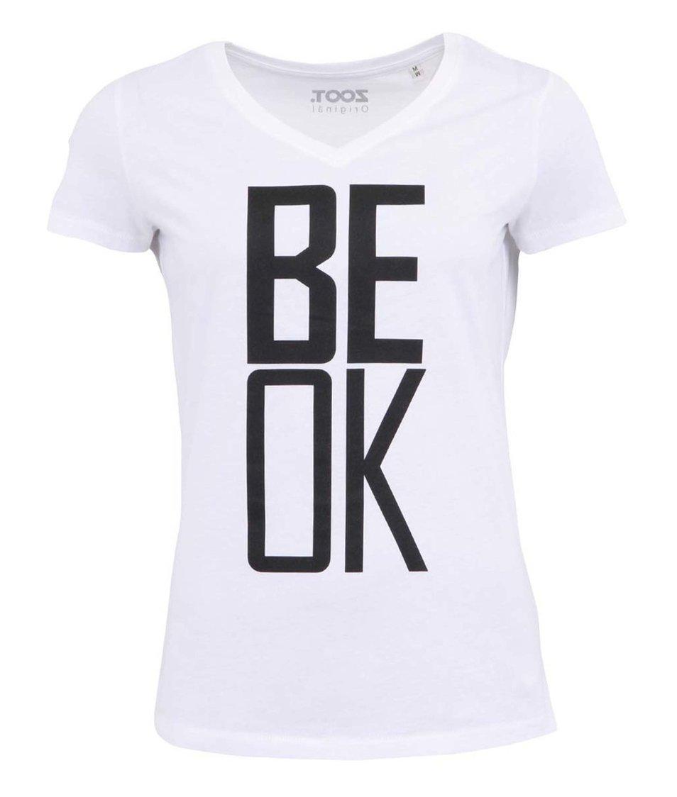 Bílé dámské tričko ZOOT Originál Be OK