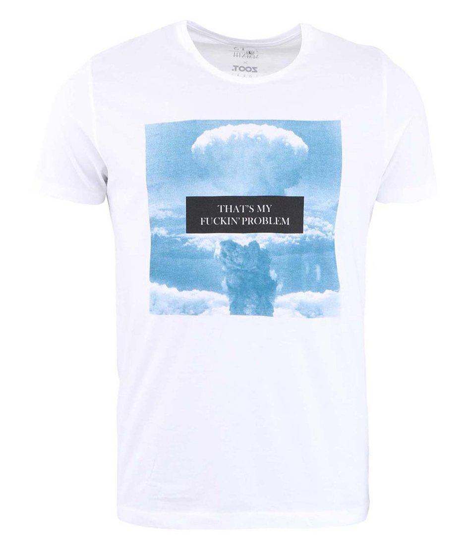 Bílé pánské triko s potiskem ZOOT Lokál