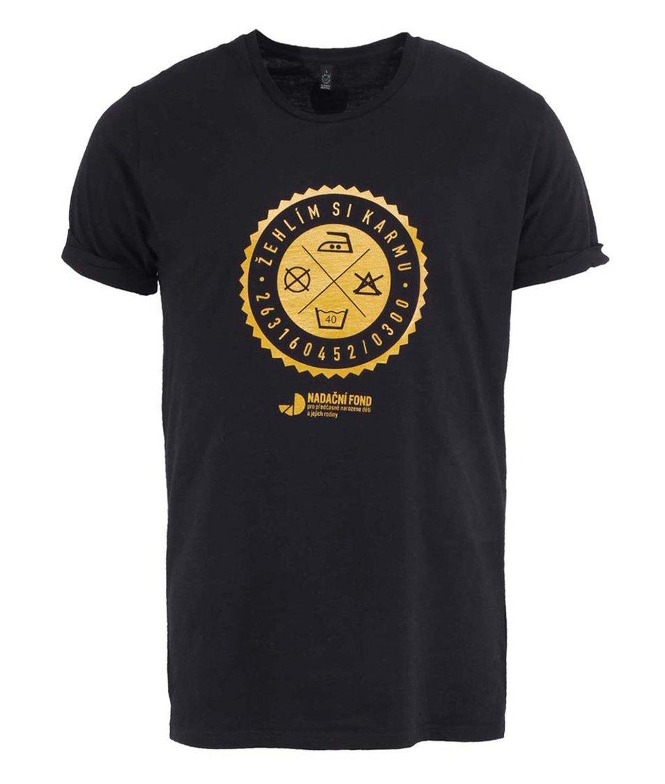 """""""Dobré"""" černé pánské triko pro Nadační fond pro předčasně narozené děti a jejich rodiny"""