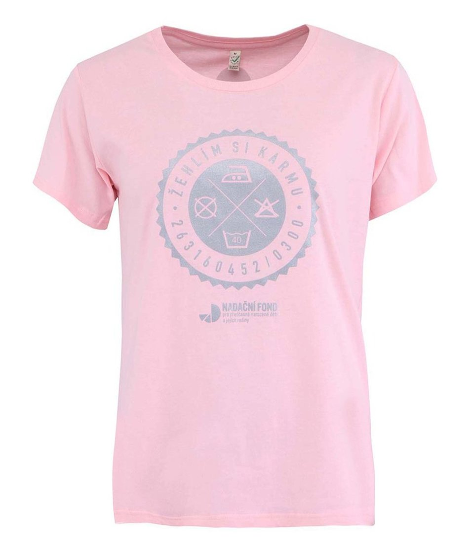 """""""Dobré"""" světle růžové dámské tričko pro Nadační fond pro předčasně narozené děti a jejich rodiny"""
