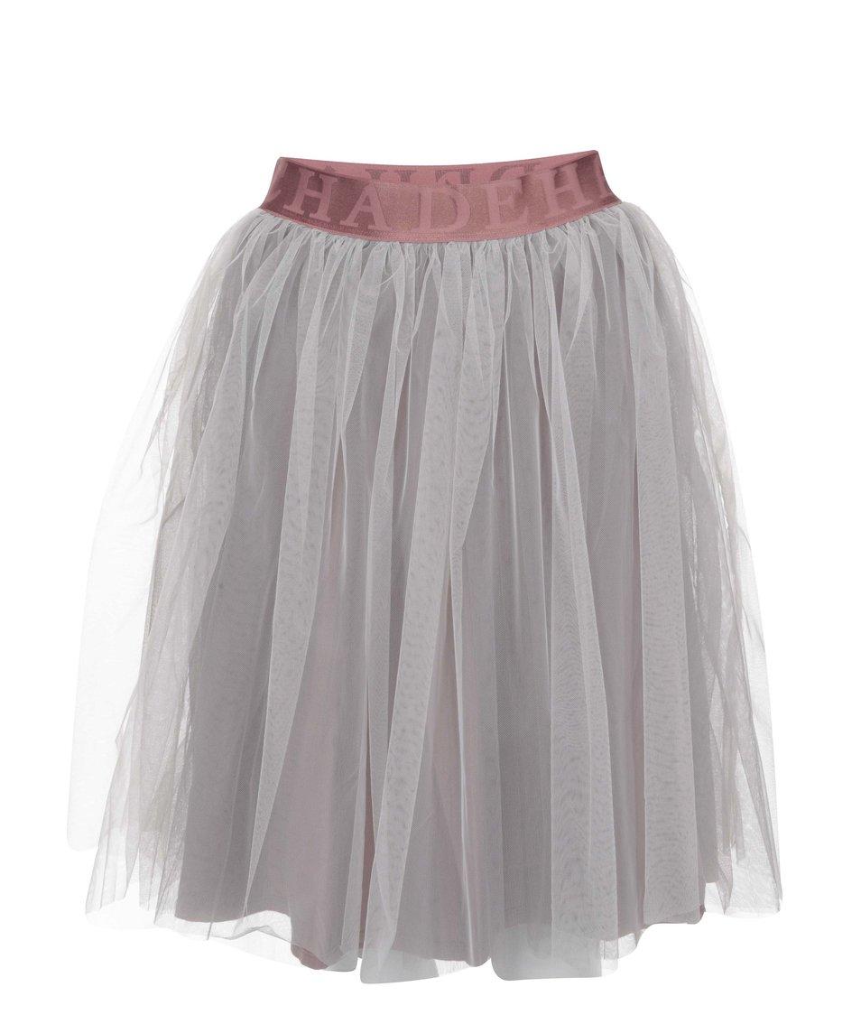 Růžovo-šedá sukně DEHA